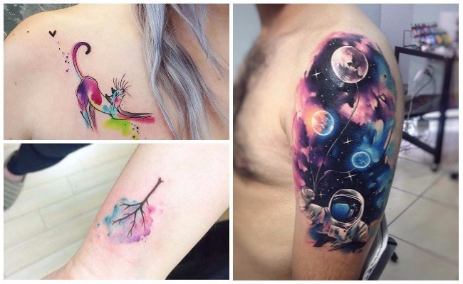 Tatuajes de acuarelas nombres