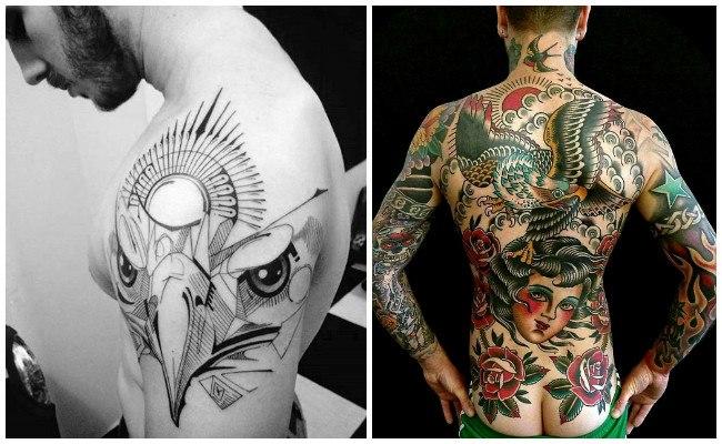Tatuaje de águila imperial romana