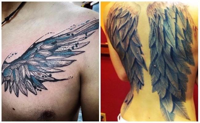 Tatuajes de alas de demonio