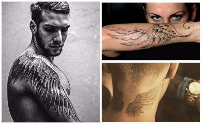 Tatuajes de alas para hombre en el brazo