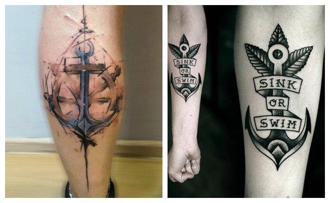 Tatuajes de anclas 3d