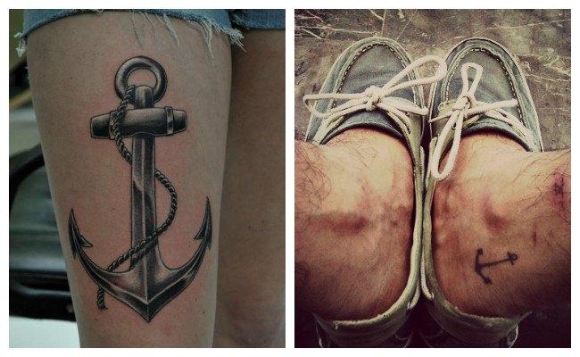 Tatuajes de anclas marineras