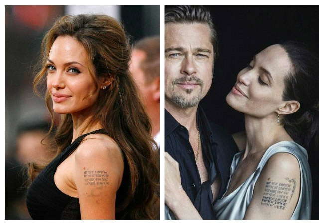 Tatuajes de Angelina Jolie coordenadas
