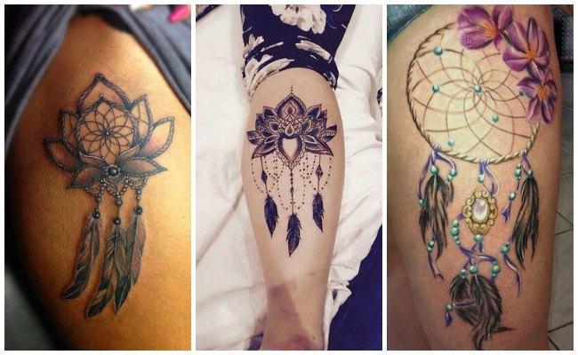 Tatuajes de atrapasueños en la espalda