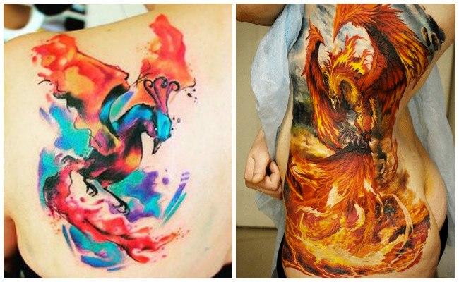 Tatuajes de ave fénix en el hombro