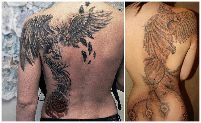 Tatuajes de ave fénix para mujer