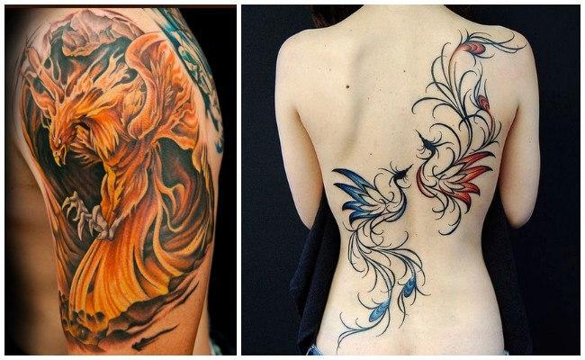 Tatuajes de ave fénix para hombres
