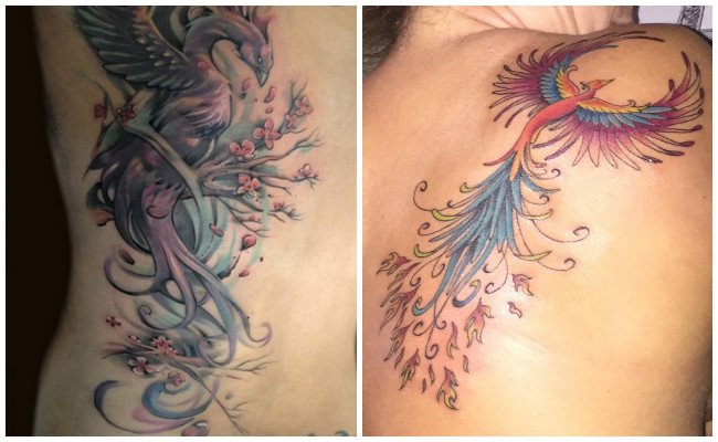 Tatuajes de ave fénix pequeños