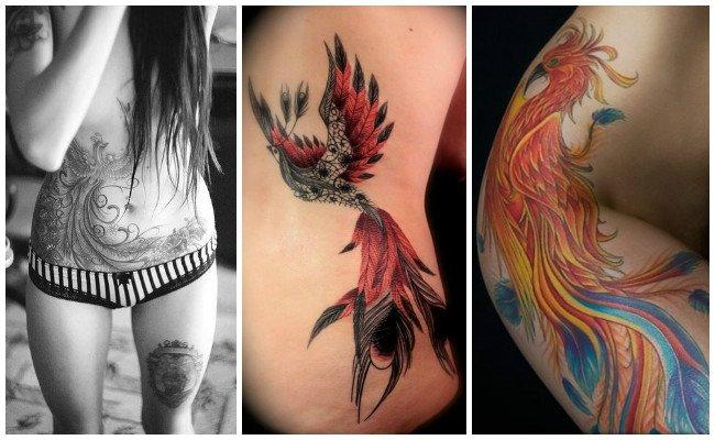 Tatuajes de ave fénix tribal
