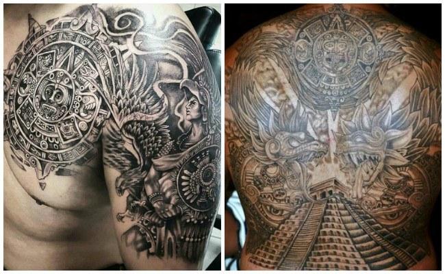 Tatuajes aztecas de brazaletes