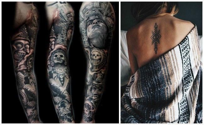 Tatuajes de aztecas y mayas fotos