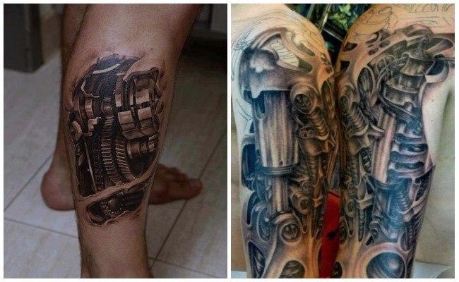 Tatuajes biomecánicos con amortiguadores