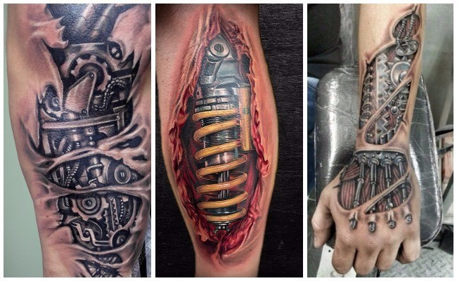 Tatuajes biomecánicos en el antebrazo