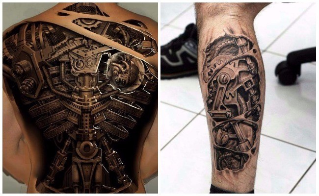 Tatuajes biomecánicos en el hombro