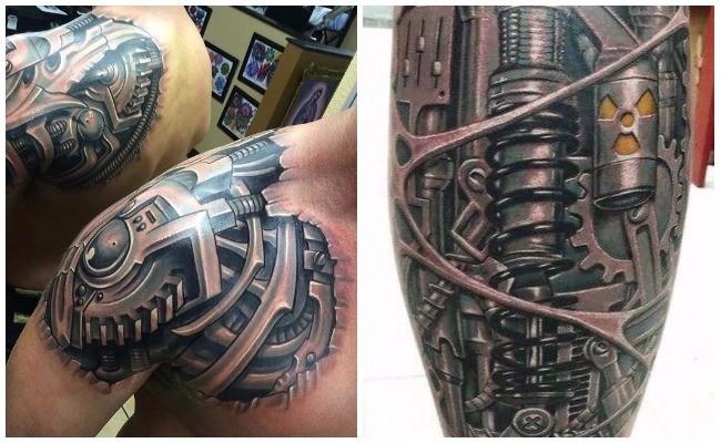 Tatuajes biomecánicos para hombres