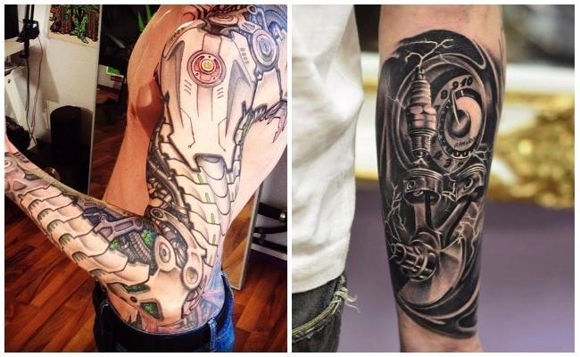 Tatuajes biomecánicos en la pierna