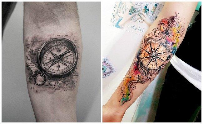 Tatuajes brújulas para mujeres