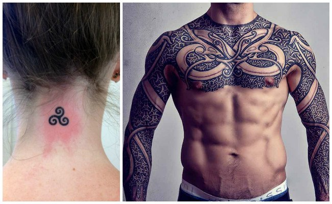 Tatuajes celtas en el brazo