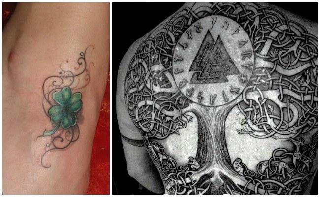 Tatuajes celtas en el hombro