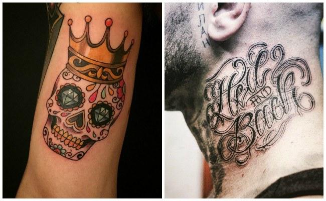 Tatuajes de catrinas mexicanas santa muerte y otros - Tattoo disenos a color ...