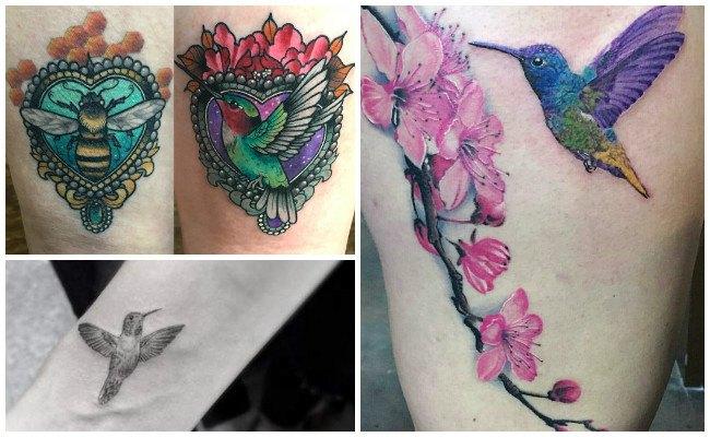 Tatuajes de colibríes en 3d