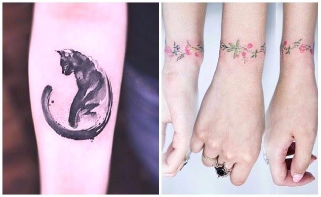 Tatuajes de colores acuarela