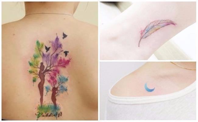 Tatuajes como acuarela