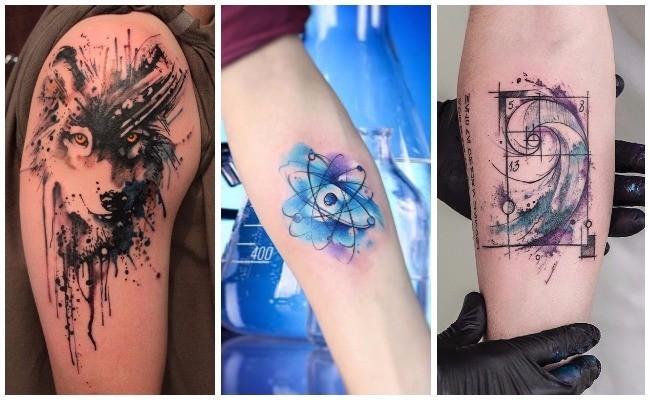 Tatuajes como acuarelas