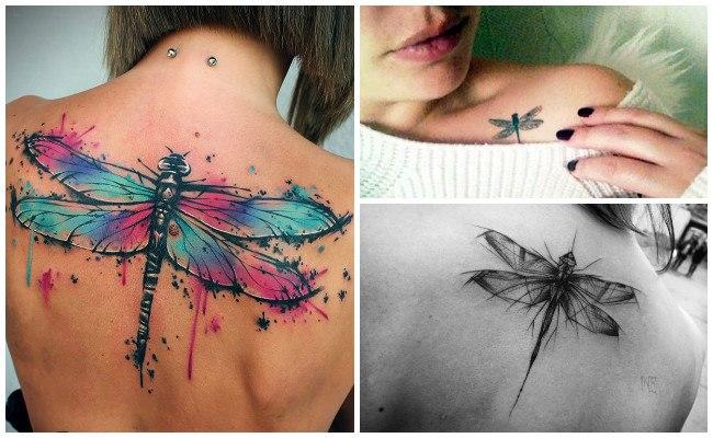 Tatuajes con libélulas