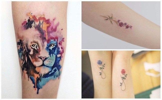 Tatuajes de manchas de colores