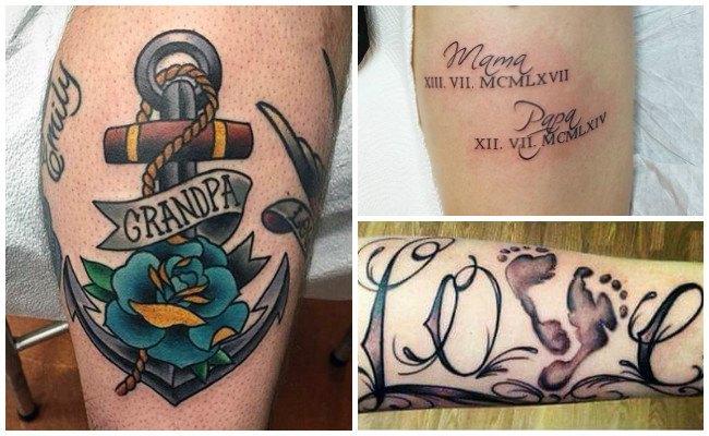 Tatuajes con nombres de hijos
