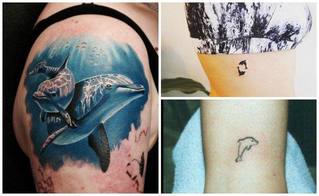 Tatuajes d delfines para mujeres