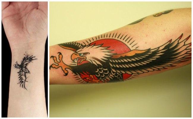 Tatuajes de águilas en 3d