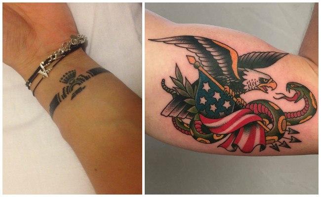 Tatuajes de águilas a color
