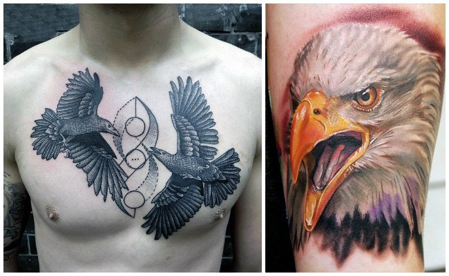 Tatuajes de águilas americanas