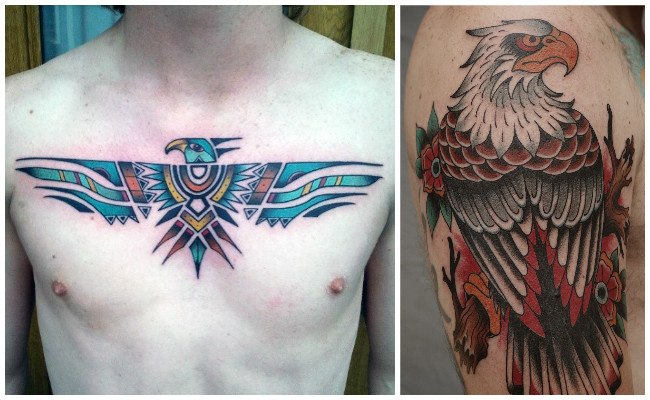 Tatuajes de águilas en el brazo