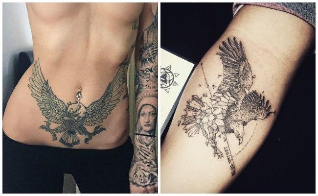 Tatuajes de águilas en el pecho