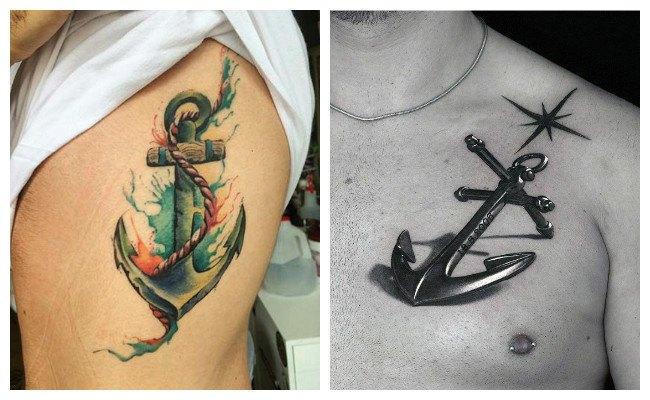 Tatuajes de anclas de amistad
