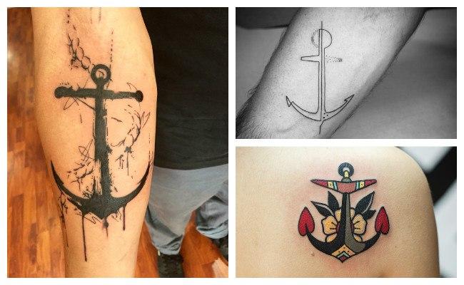 Tatuajes de anclas bonitas