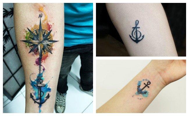 Tatuajes de anclas de barco