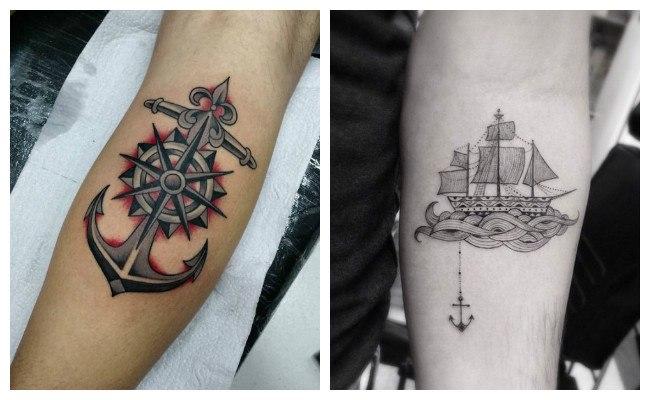 Tatuajes de anclas femeninos