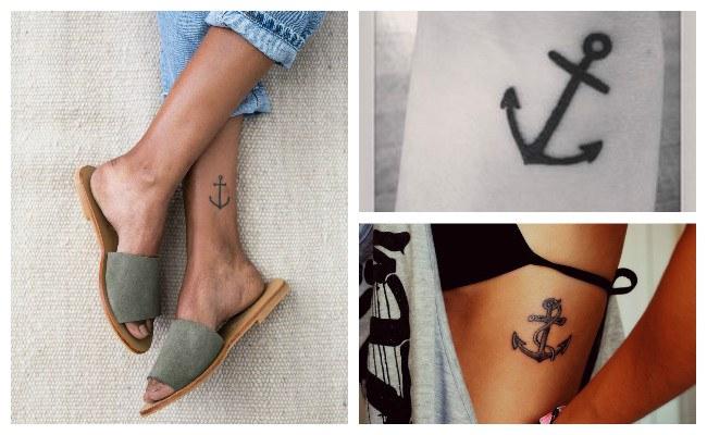 Tatuajes de anclas con lazos