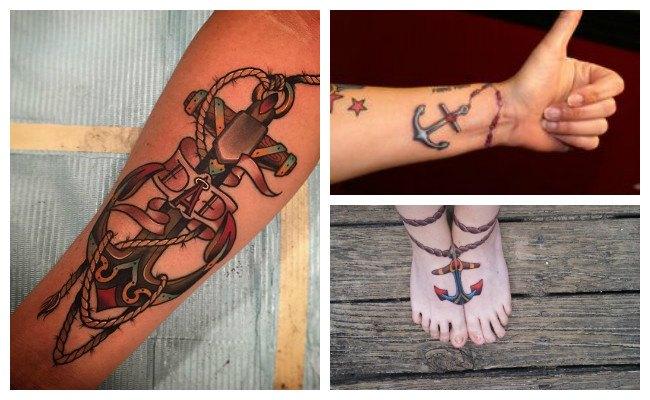 Tatuajes de anclas lindos
