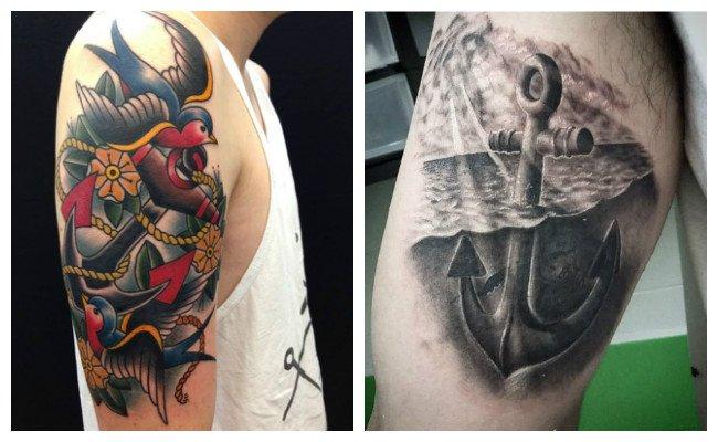 Tatuajes de anclas con nombres