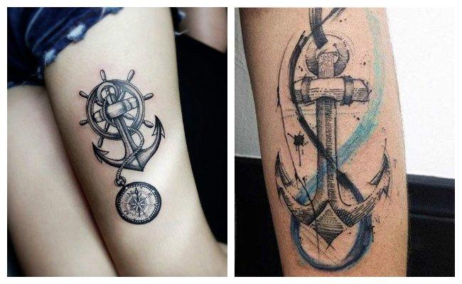 Tatuajes de anclas para amigas