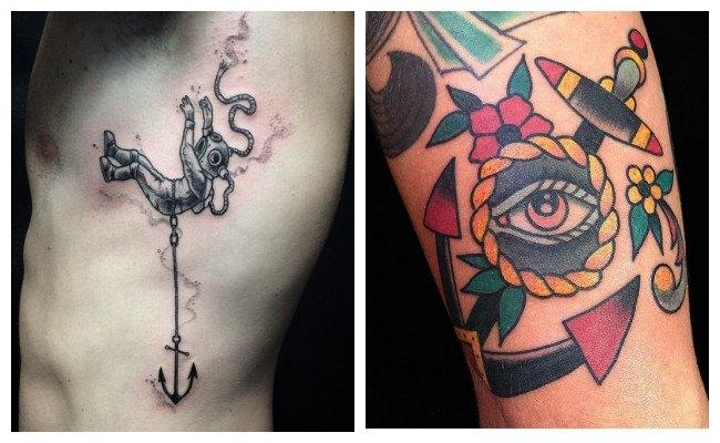 Tatuajes de anclas para chicas