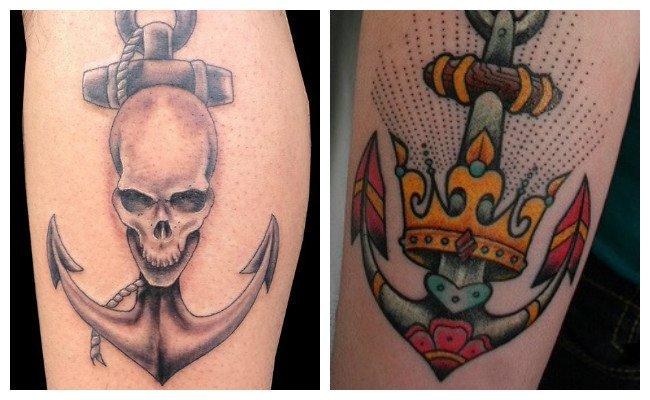 Tatuajes de anclas para hombres