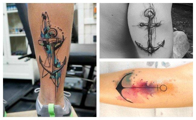 Tatuajes de anclas para novios