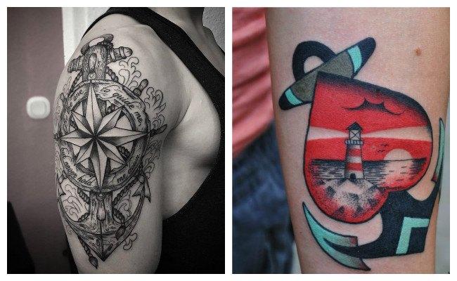 Tatuajes de anclas simples