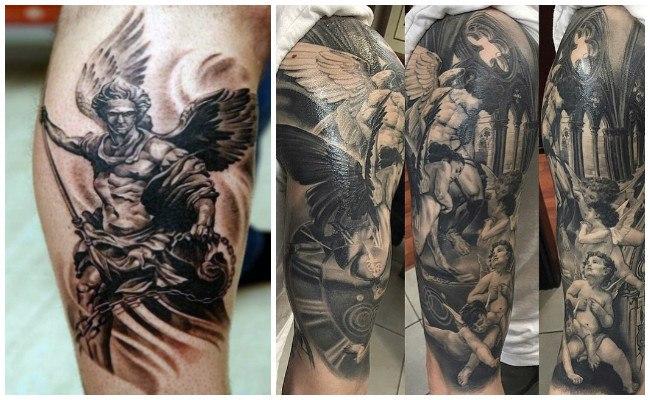 Tatuajes de ángeles con alas
